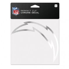 San Diego Chargers 6x6 Perfect Cut Decal - Chrome (backorder)