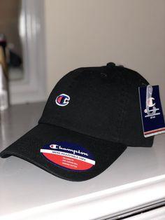 226fec9a97e CHAMPION MENS BLACK 1 SIZE STRAPBACK CAP HAT  fashion  clothing  shoes   accessories