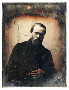 Auguste Mestral et Gustave Le Gray: Portrait d'un peintre (Hyppolyte Flandrin) 1848 daguerréotype quart de plaque