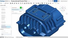 Onshape, the collaborative, cloud-based 3D CAD system, has released FeatureScript, a new open programming language that lets users create and modify parametric features. The language can be used to create 3D printing-specific functions, such as internal geometry modifiers.
