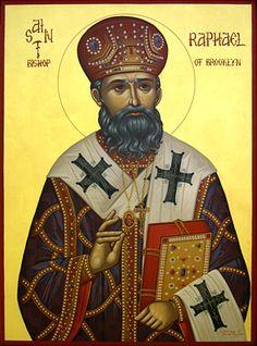 Byzantine icon of St. Raphael, Bishop of Brooklyn by sacredikons, via Flickr