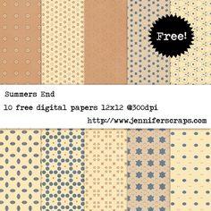 Summers End - Free Digital Paper Pack