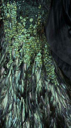 Feathered gown #Luxurydotcom