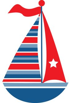 Sail boat Nautical Clipart, Nautical Party, Clip Art, Cute Clipart, Free Coloring, Applique Designs, Embroidery Applique, Baby Quilts, Stencil