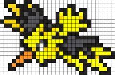 Zapdos Pokemon Bead Pattern Perler Bead Pattern / Bead Sprite