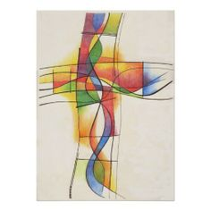 Liven up the walls of your home or office with Contemporary Christian art from Zazzle. Check out our great posters, photo prints & wood wall art. Christian Posters, Christian Artwork, Christian Crosses, Jesus Christ Painting, Cross Art, Prophetic Art, Church Banners, Arte Pop, Cross Paintings