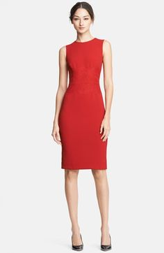 Dolce&Gabbana Lace Embellished Stretch Cady Dress available at #Nordstrom