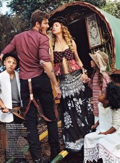 Summer of Love by Bruce Weber for American Vogue April 2012. from ::boho+love:: by Michelle Lasorsa.