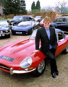 Elton John - Jaguar E-Type & collection Jaguar E Type, Jaguar Cars, Jaguar Sport, Carros Jaguar, Carros Lamborghini, Automobile, Celebrity Cars, British Sports Cars, New Wave