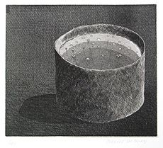 The Pot Boiling, from The Brothers Grimm Fairy Tales, etching and aquatint by David Hockney, date available from Hester Gallery. David Hockney Prints, David Hockney Artist, Copic Drawings, Pop Art Movement, Brothers Grimm, Mark Making, Print Artist, Art Sketchbook, Dibujo