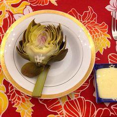 レシピとお料理がひらめくSnapDish - 9件のもぐもぐ - Artichoke with homemade mayonnaise by Sanae