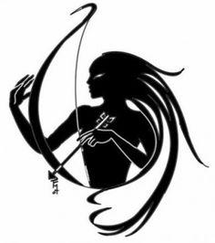 woman holding arrow tribal tattoo