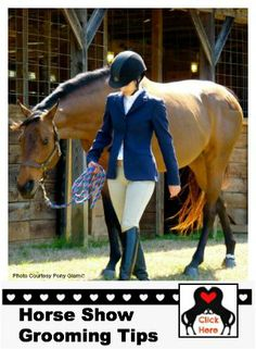 #horseshowgrooming - Find the best tips to get your horse ready for your big day at the show!