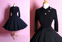 TIMELESS BEAUTY 1950's New Look Party Dress w/ by butchwaxvintage, $245.00