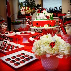 Incredible Ladybug Birthday Party!   See more ideas at CatchMyParty.com! #partyideas #ladybug