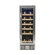 NewAir - 19-Bottle Wine Cooler - Stainless steel (Silver), AWR-190SB