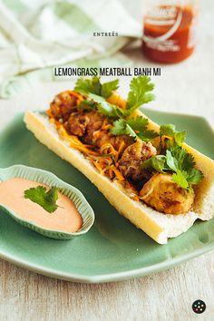 Lemongrass Meatball Banh Mi by Pepper.Ph