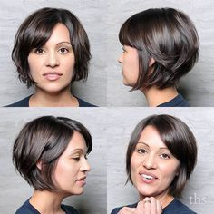The classic bob. It never goes out of style. This is a feathered #razorbob where Megan uses a razor to redefine the texture for a more jagged line and messy undone style. Perfection.