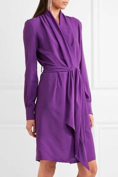 Gareth Pugh - Silk-blend Crepe Wrap Dress - Purple - IT
