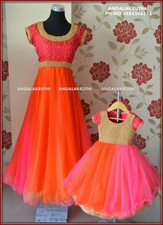 Mom nd me combos perfect for any occasion Intrested ppl ping me on 9951711879 Mom Daughter Matching Outfits, Mommy Daughter Dresses, Mother Daughter Fashion, Kids Dress Wear, Kids Gown, Party Wear Dresses, Mom Dress, Girls Frock Design, Kids Frocks Design