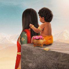 Maa Kali Images, Shri Ganesh Images, Lord Murugan Wallpapers, Shiva Lord Wallpapers, Hanuman Pics, Lord Shiva Family, Cute Baby Girl Pictures, Lord Shiva Painting, Modern Art Paintings