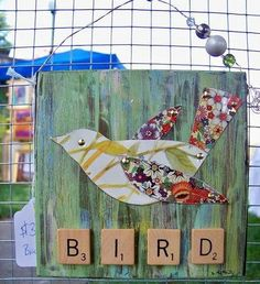 Tin Bird.  Original artwork by DeAnna H. McNeill, Mixed Media Artist.