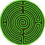 "From the World-wide Labyrinth Locator: ""The turf labyrinth formerly at Boughton Green, England, had a medieval design with various changes to the circuits and the centre replaced by a spiral."""