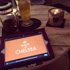 """Jenna prepares for quite the night in...   """"Girlie night watching #madeinchelsea  #MiC #chilling #chillout #relaxing #metime #candles #yankeecandles #minttea #tea #brewtea #brewteaco #brewtime #diy #reclaimed #wood #diyfurniture #table #slate #love #heart"""""""