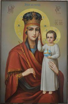 """Икона Богородицы """"Призри на смирение"""". Список с чудотворной иконы Введенского храма города Киева."""