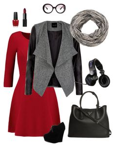 """""""12-2"""" by sungin-cho on Polyvore featuring Milly, Prada, maurices, NARS Cosmetics, OPI and Forever Link"""