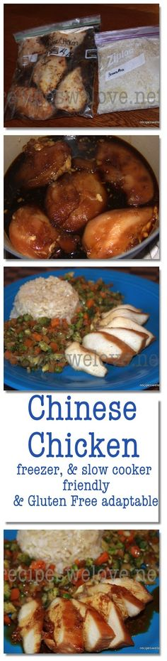 Chinese Chicken Freezer Friendly.... Crock pot Friendly.... Gluten Free when using GF soy sauce :) once easy dinner.