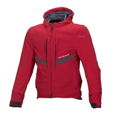 Gender: Men Color: Red Size: M Length: Regular Number: look and feel of an outdoor softshell jacket with the protection and the functionality of a touring jacket: that's the Habitat. The thermal layer inside is also waterproof and Textiles, Hooded Jacket, Jacket Men, Habitats, Motorcycle Jackets, Shopping, Medium, Red, Products