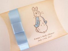 Personalized Peter Rabbit Favor Box, Peter Rabbit Baby Shower Favor Box, Beatrix Potter, Baby Boy or Girl, Favor, Vintage Style, Set of 10
