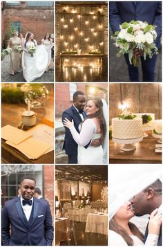 """{    ROMANTIC CANDLELIT WINTER WEDDING AT NIGHT    }   """"I've always loved the idea of a wedding at night.  A candle-filled ceremony, adorned in twinkling lights (à la Ross & Emily!), a romantic atmosphere, and a magical feel.  And that's exactly what Whitney & Neko went for in their enchanting warehouse wedding venue in Atlanta. With photography by Brittany Rae Photography and coordination by Chancey Charm Weddings, we're so excited to share their beautiful winter wedding."""""""