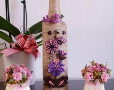 wine bottle decor custom wine bottle twine wrapped bottles