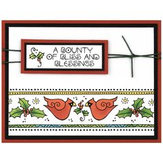 Stampendous Clear Stamps CARDINAL BORDER Laurel Burch SSCL106 zoom image