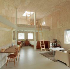 Design japonais: maison-boîte en bois