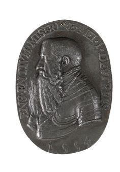 Medaillon de Jean d'Estrées, grand maître de l'artillerie du roi Henri II. 1554