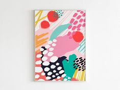 Colorful Abstract Art, Black Abstract, Abstract Wall Art, Abstract Print, Art Mural Vert, Grand Art Mural, Pop Art, Modern Wall Art, Large Wall Art