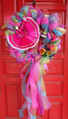 Fiesta Wreath by SweetPeainLa on Etsy, $65.00