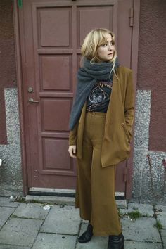 Fanny Ekstrand in Rodebjer updated suit with twisted knit
