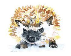 Hedgehog Watercolor 2