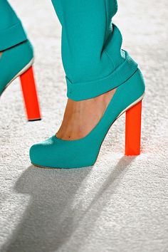 teal and red heals