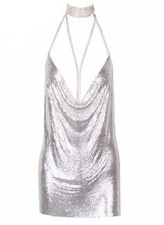 Celebrity Styles Kenny Silver Mini Dress
