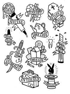 Tattoo Art Styles: old school tattoo flash art for men