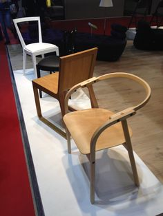 Front: OTTO chair by Werther Toffoloni. Behind: MUU chair by Harri Koskinen, 969 and 940 by Gio Ponti