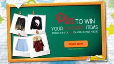1. Create a pinboard on pinterest (make sure it's public!) 2. Share the link of your pinboard with us on Facebook. Each Tuesday from now through December 31, 2013 we'll choose one winner randomly to receive five items from their board, up to $250 in value! Visit us on Facebook: www.facebook.com/chicnova.fashion