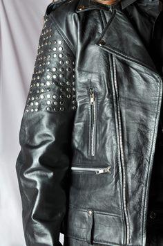 R. Davies S/S 15 Detail from Biker leather jacket http://www.rdavies-man.com/