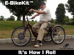 """Electric Tricycle: """"It's How I Roll"""" Bike Humor, Electric Tricycle, Mobility Aids, Bicycles, Transportation, Search, News, Videos, Fun"""
