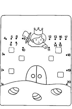 Fairy Tale Theme, Fairy Tales, Chateau Moyen Age, Dot To Dot Puzzles, Tracing Shapes, Medieval, Caleb, Kids English, Château Fort